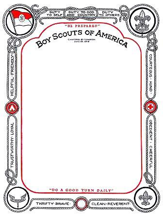 Boy Scout Certificate Template