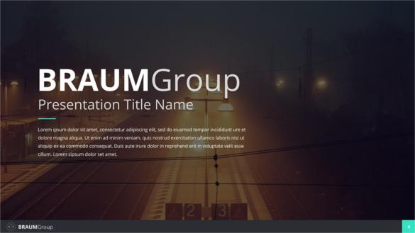 Braum Google slides Presentation Template PPTX