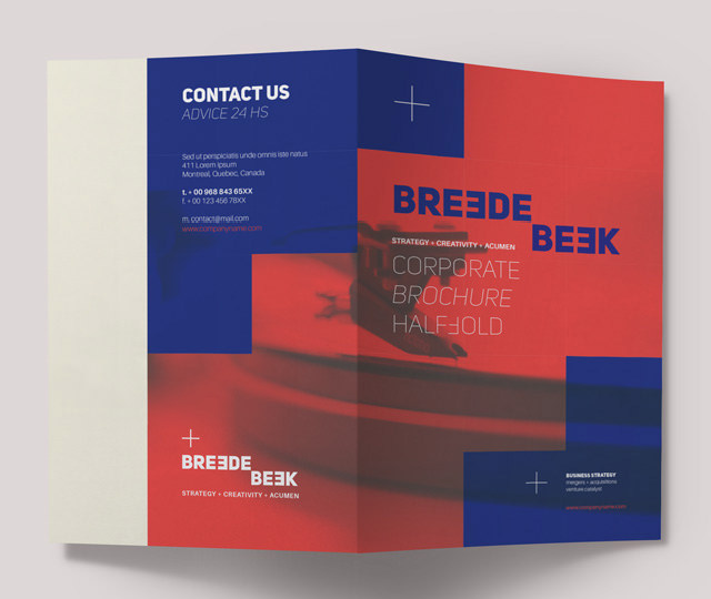 Breede Bi Fold Corporate Brochure Template