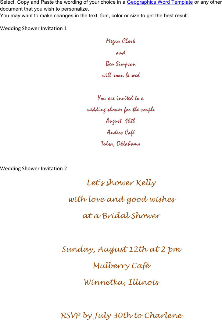 Bridal Shower Invitation Template 2