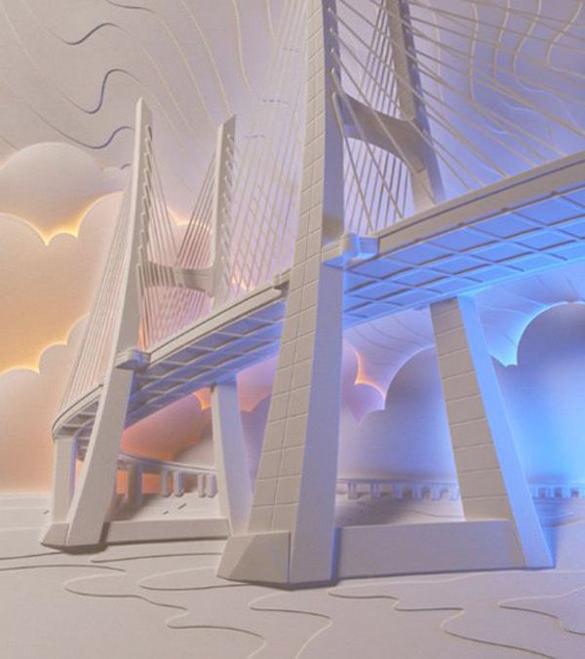 Bridge Paper Art Design
