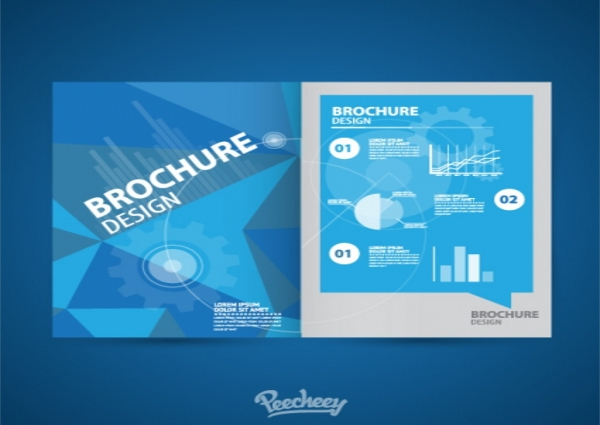 Brochure Blue Style Template