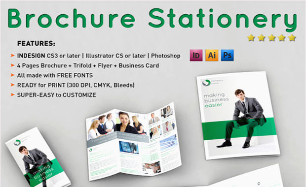 Brochure stationery