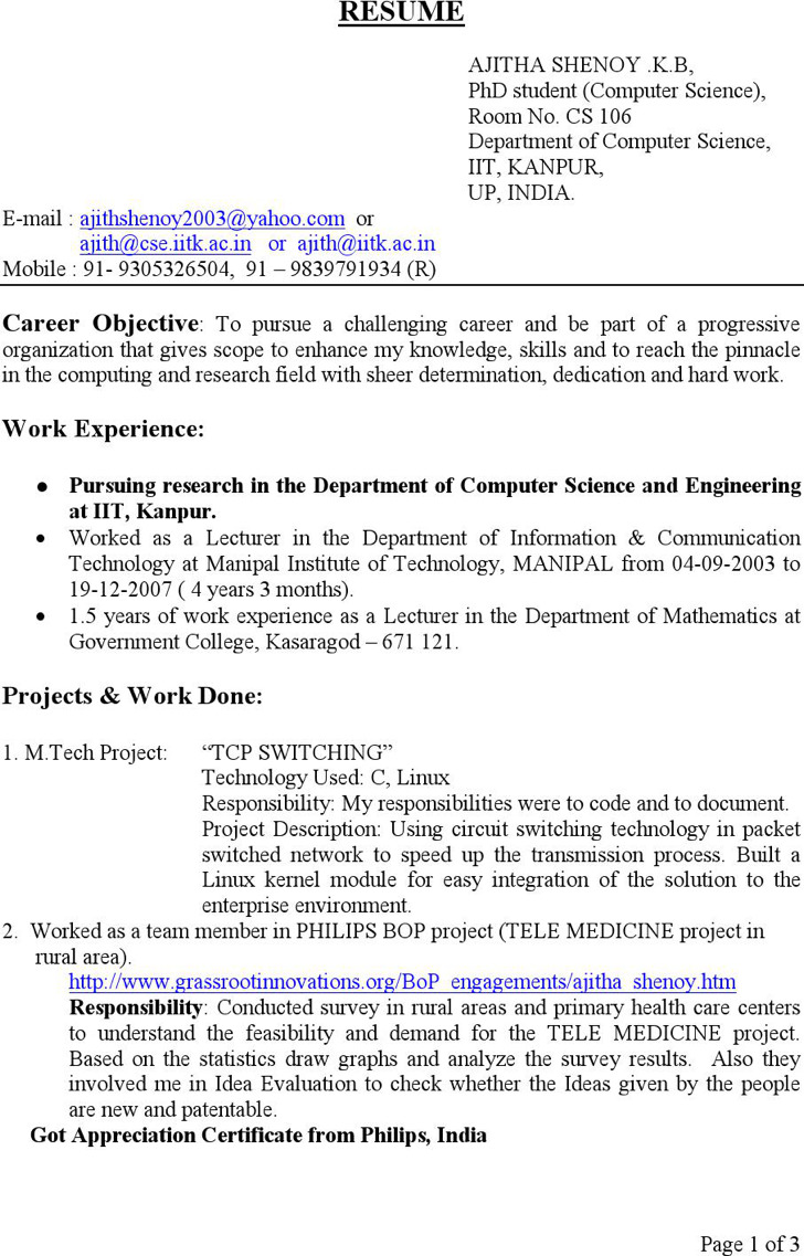 Download Computer Science Resume Templates for Free - TidyTemplates