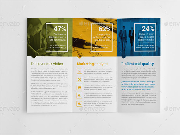 Business Branding & Graduation Education Trifold Brochure INDD Format