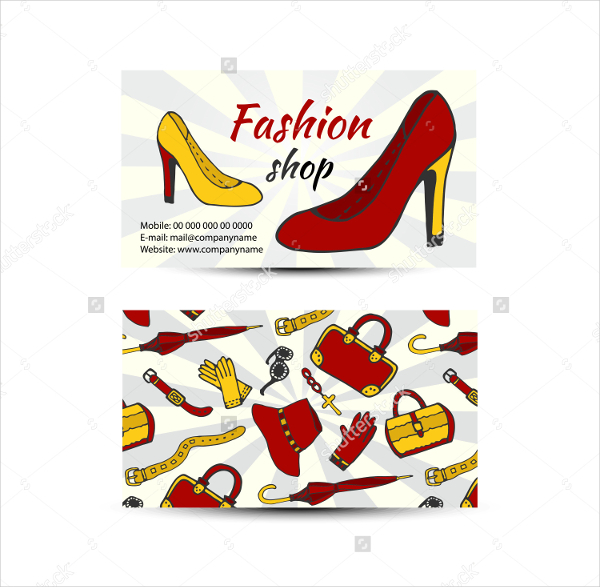 20  fashion business cards free download