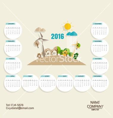 Business Card Pocket Calendar Template