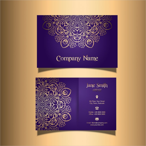 Business Card with a Stylish Design
