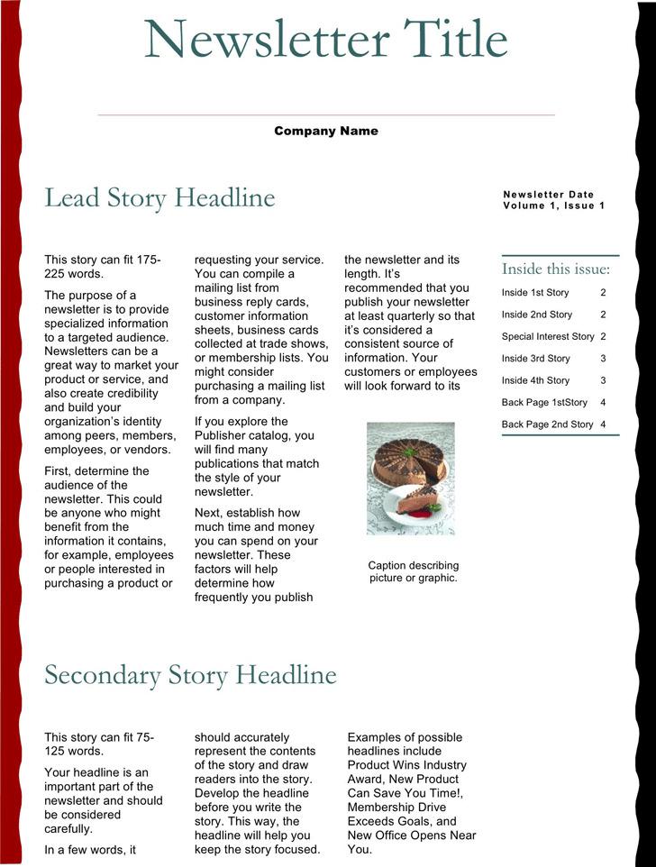 Business Newsletter Template 1