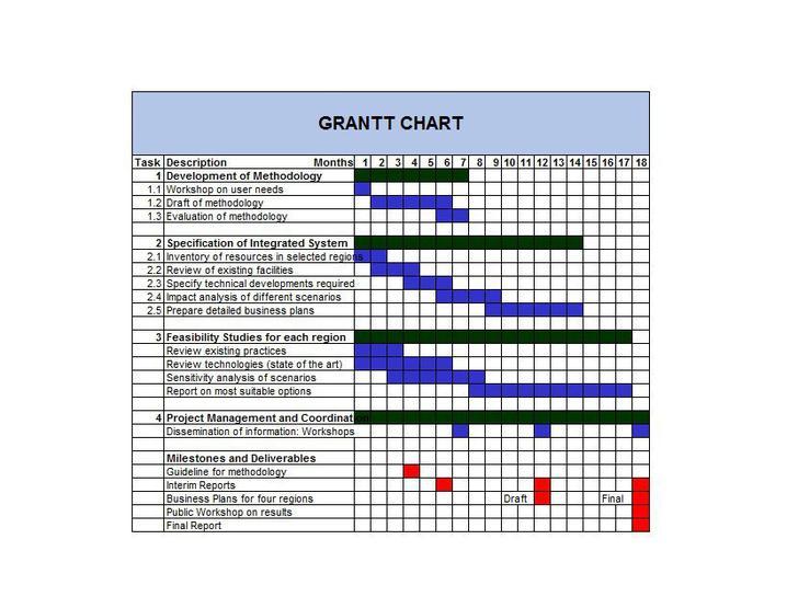 Business Plan Gantt Chart Template Download