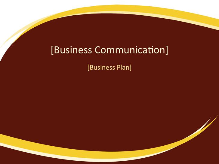 Business Plan Presentation (Burgundy Wave Design)