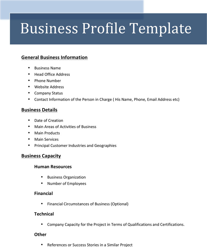 Business Profile Template 3
