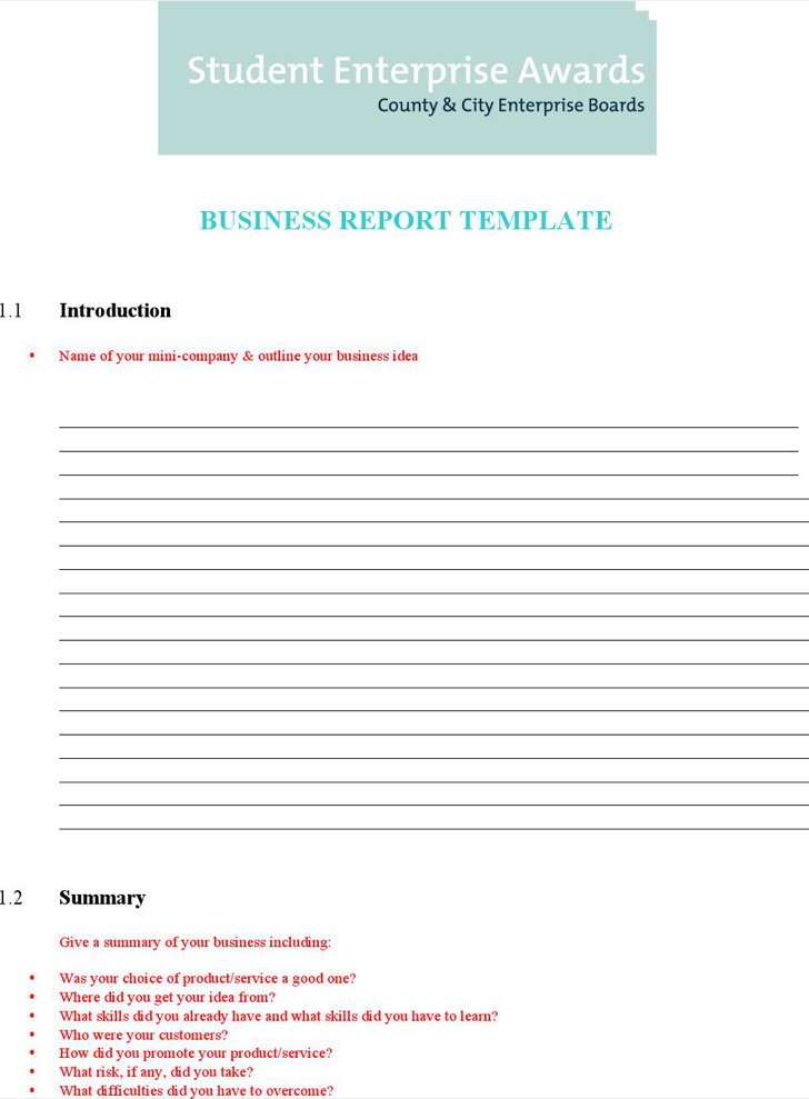 Download word report templates for free tidytemplates business report template word friedricerecipe Gallery