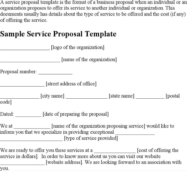 8 service proposal templates free download business service proposal template friedricerecipe Images