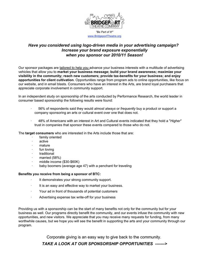 Business Sponsorship Proposal PDF Download