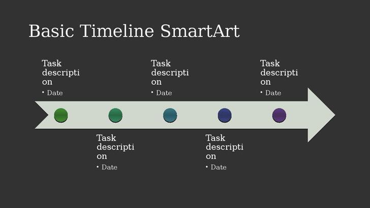 Business Timeline SmartArt Diagram Slide