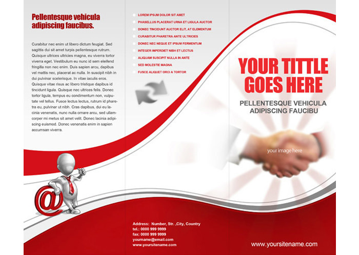 Bussiness Free Tri Fold Brochure Template