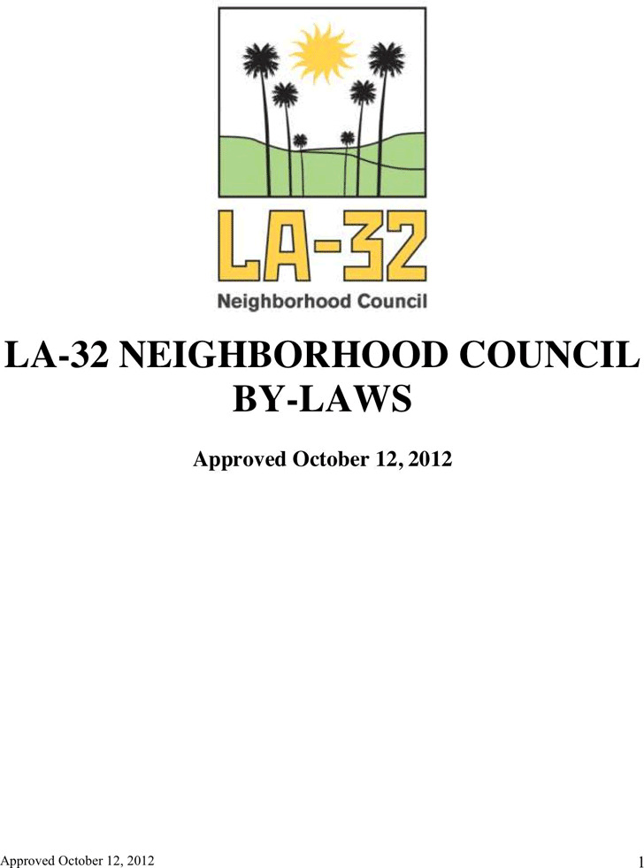 Bylaws Template 1