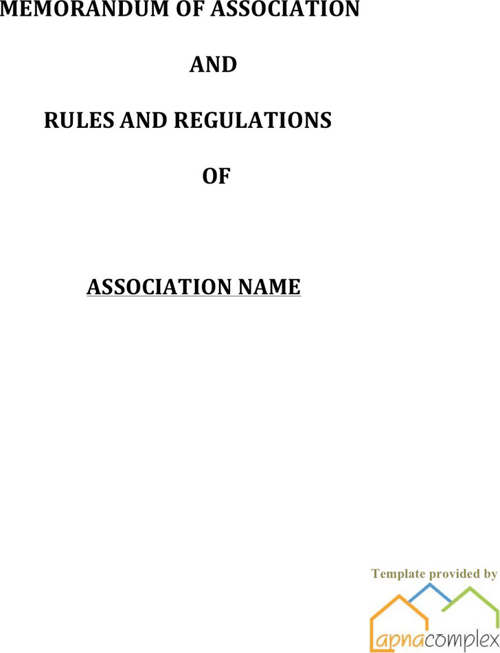 Bylaws Template 2