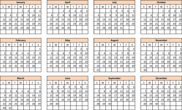 Year Calendar Maker : Download yearly calendar template for free tidytemplates