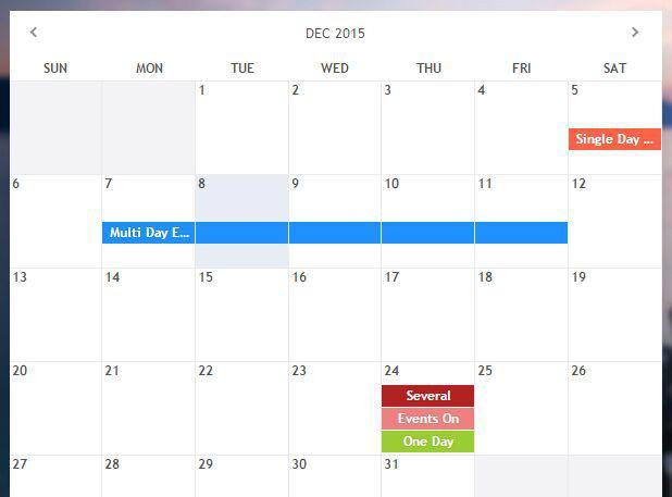 Calendar-Jquery Event Calendar Plugin HTML Format