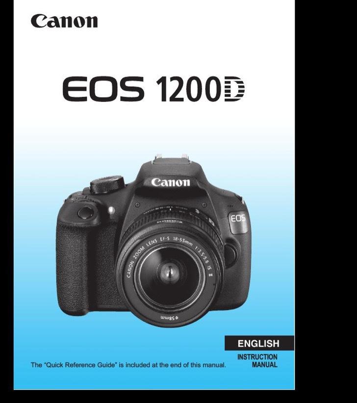 Canon Instruction Manual Sample