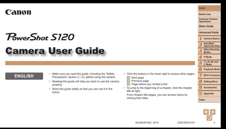 Canon Owners Manual Sample