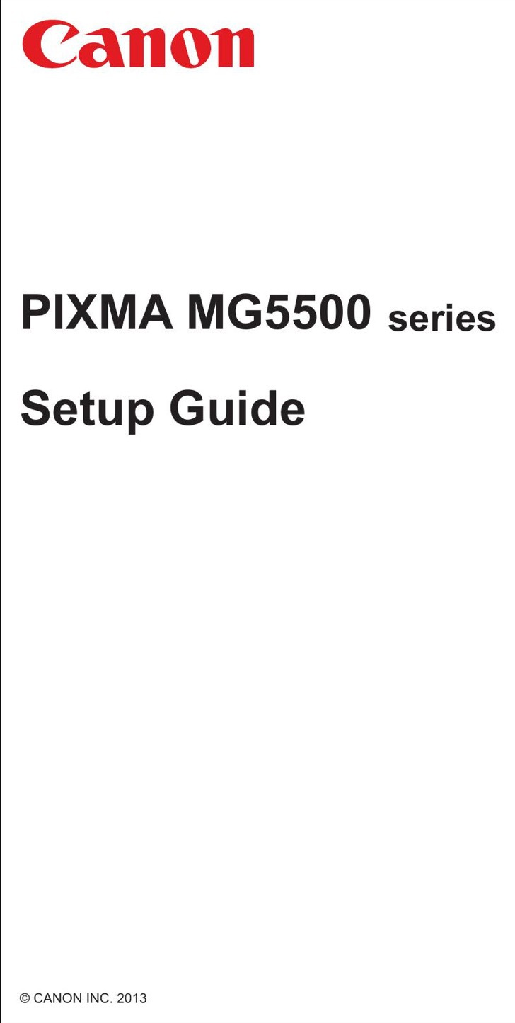 Canon Quick Start Guide Sample