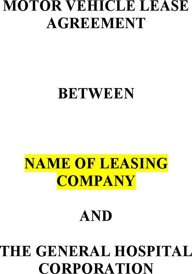 Car Lease Agreement 1