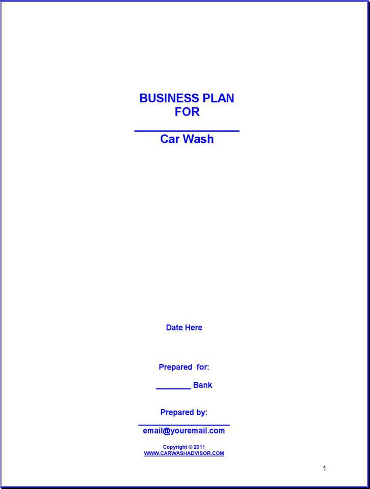 Car Wash Business Plan1