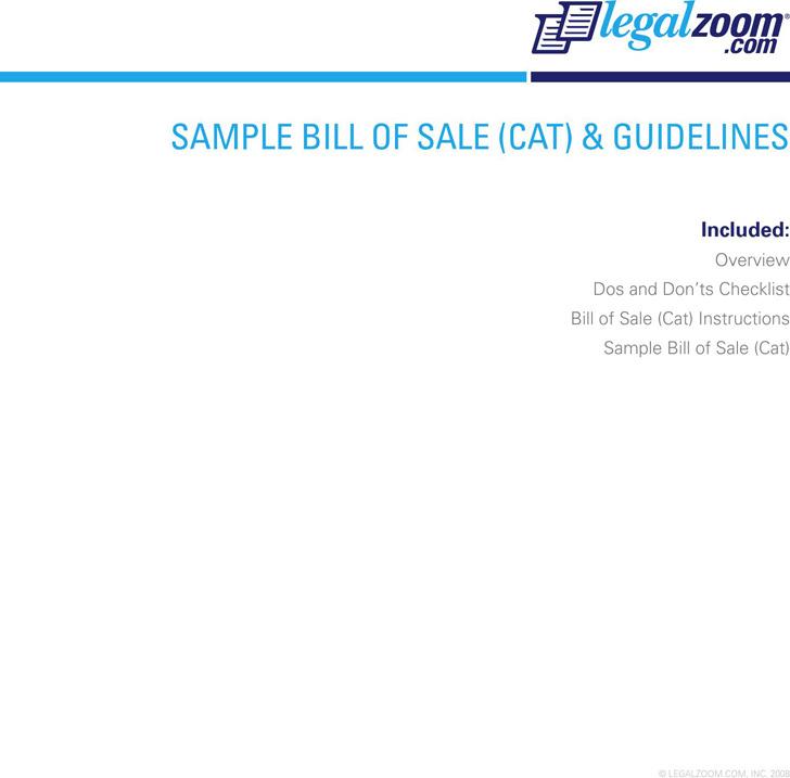 Cat Bill of Sale 1