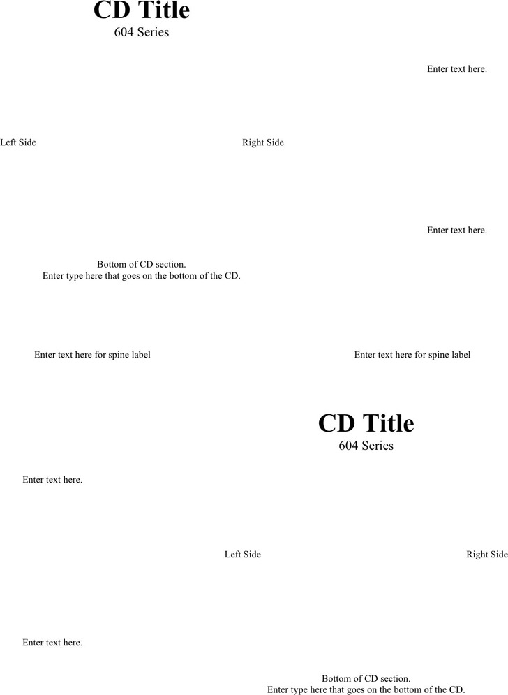 CD Label Template 1