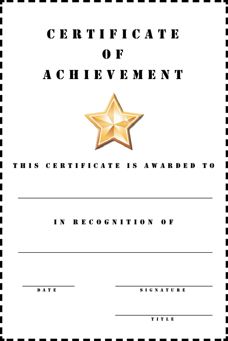 Certificate of Achievement 2