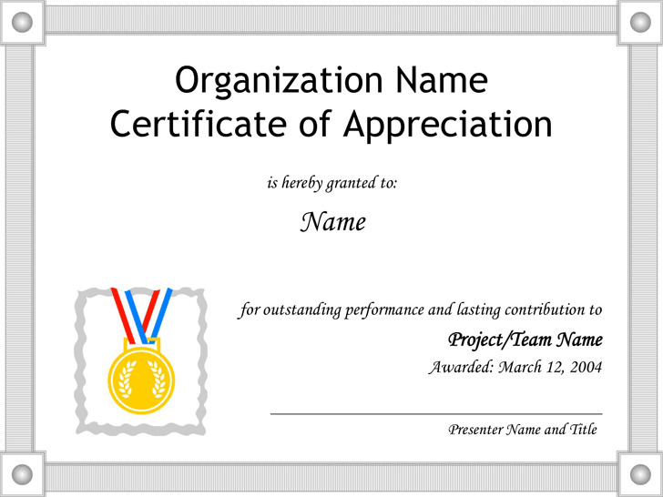 3 Certificate Of Appreciation Template Free Download