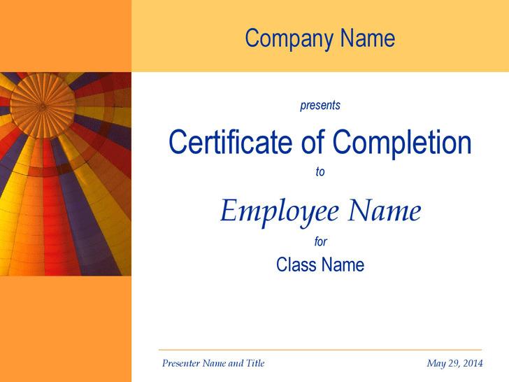 Certificate of Training 2