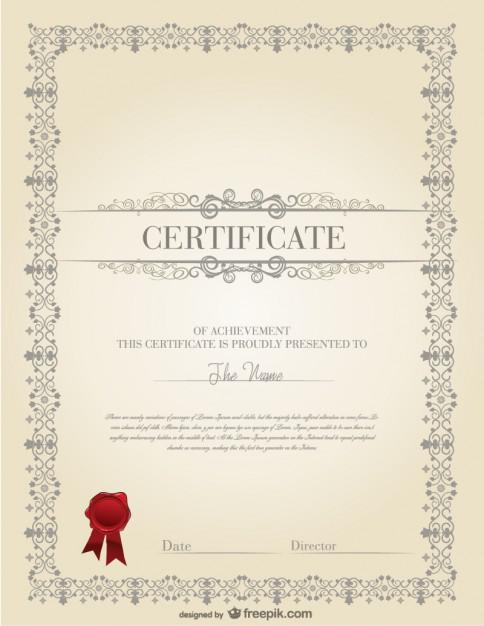 Certificate Template Free Download