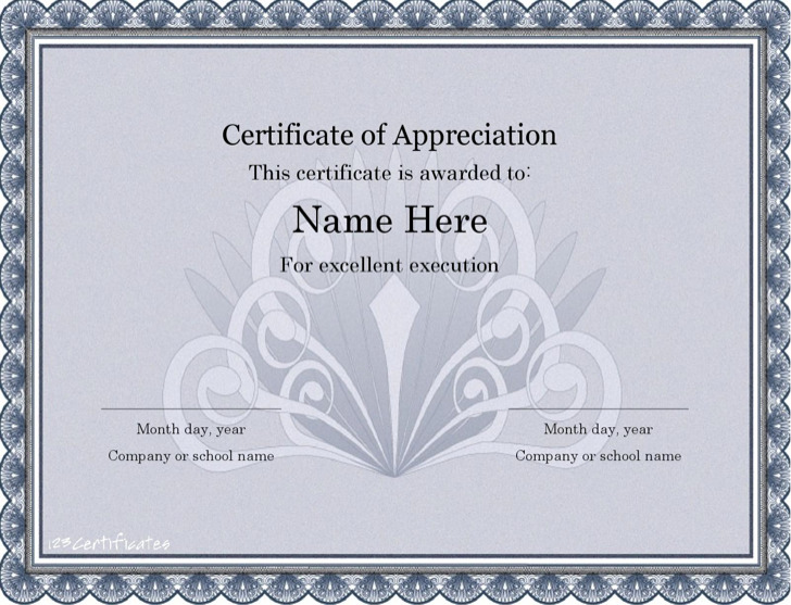 Certificate Templates For Word4