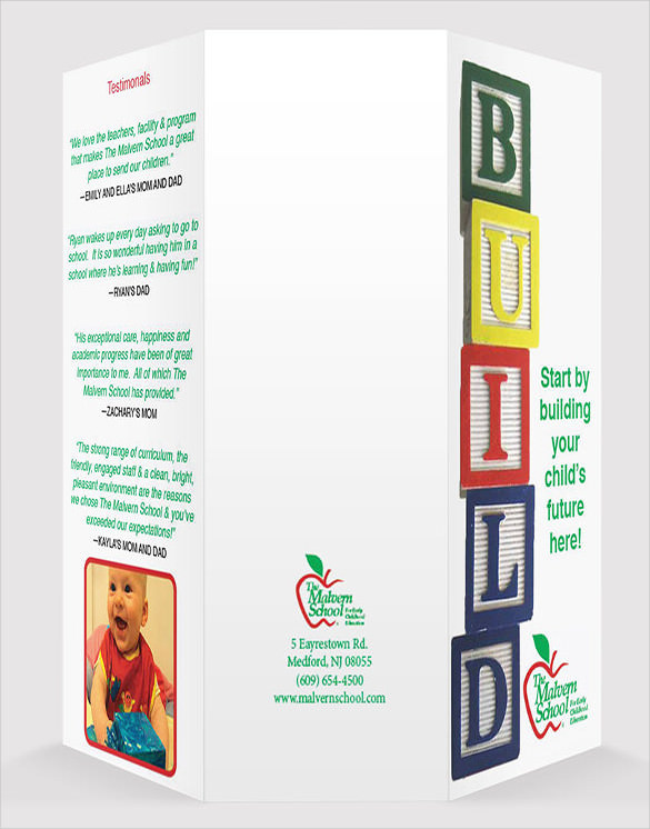 Child Day Care Brochure Template Free Download