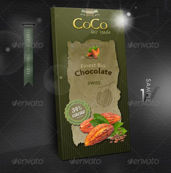 Chocolate Bar Wrapper Mockup