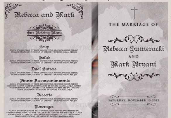 44 wedding program templates free download