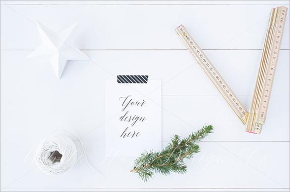 Christmas A6 Stationery Mock up Download