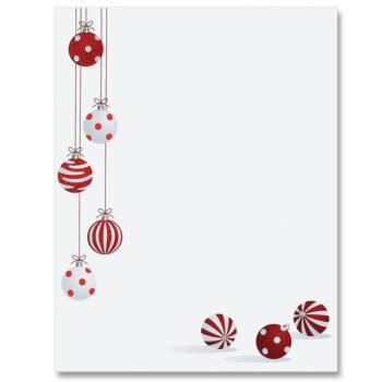 Christmas Bells Writing Paper Lined Template Pdf