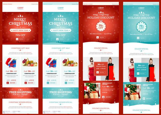Christmas E-Commerce Newsletter Template Psd Design