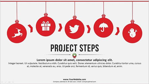 Christmas Event PowerPoint Template PPTX Format