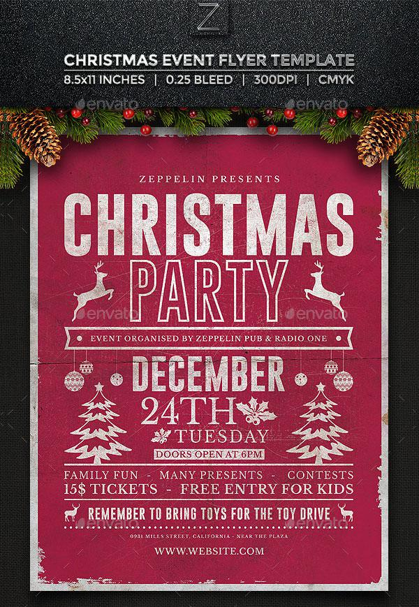 24 christmas flyer templates free download