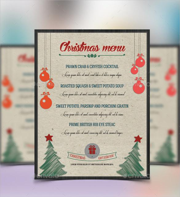 Christmas Food Menu Vector EPS Format Download