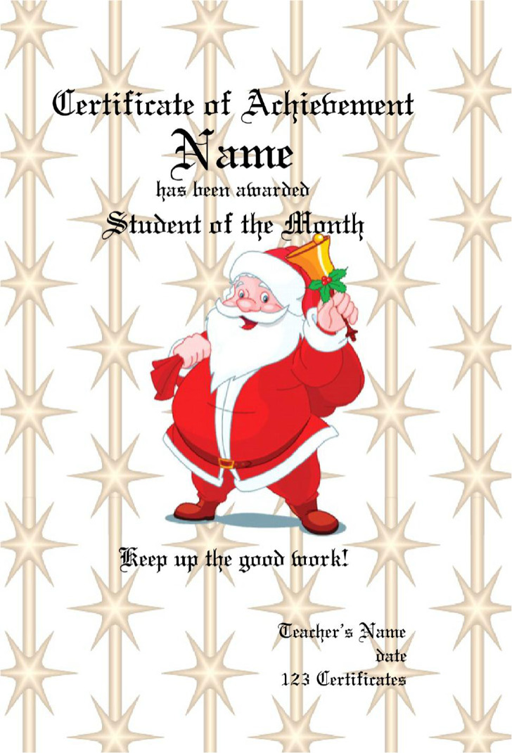 Christmas Gift Certificate Pdf Template Free Download