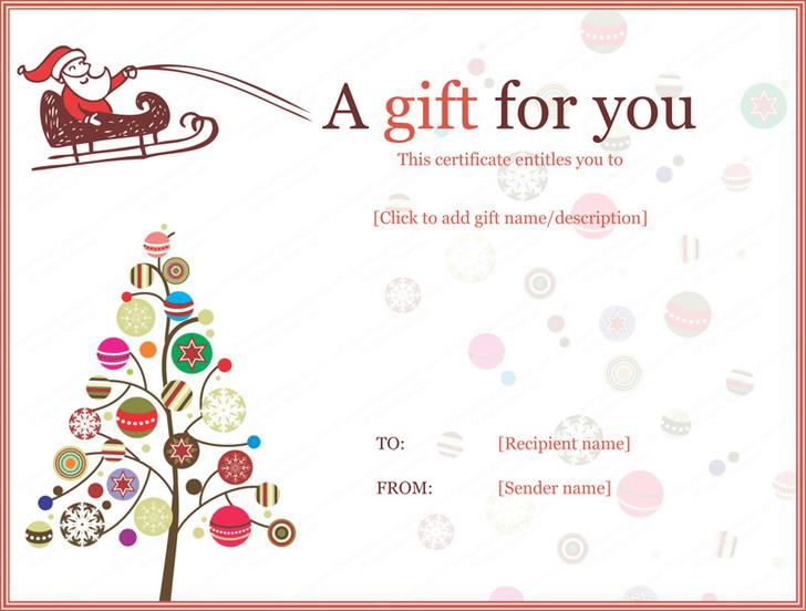 Christmas Gift Certificate Template Free Download 2