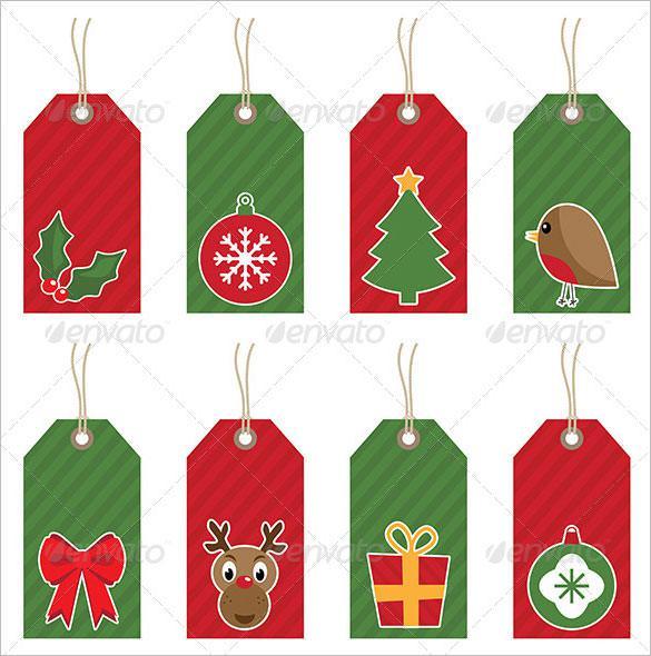 Christmas Gift Tags Ai Illustrator Download