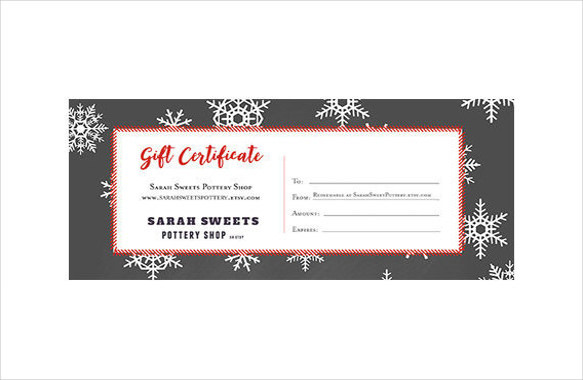 Christmas Holiday Gift Certificate Template Download